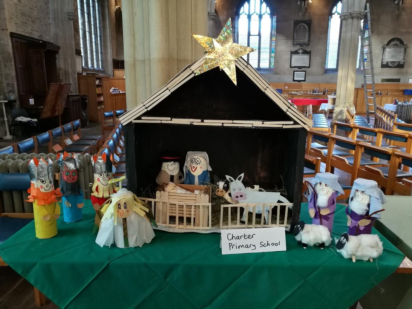 Sunshine Nativity Scene