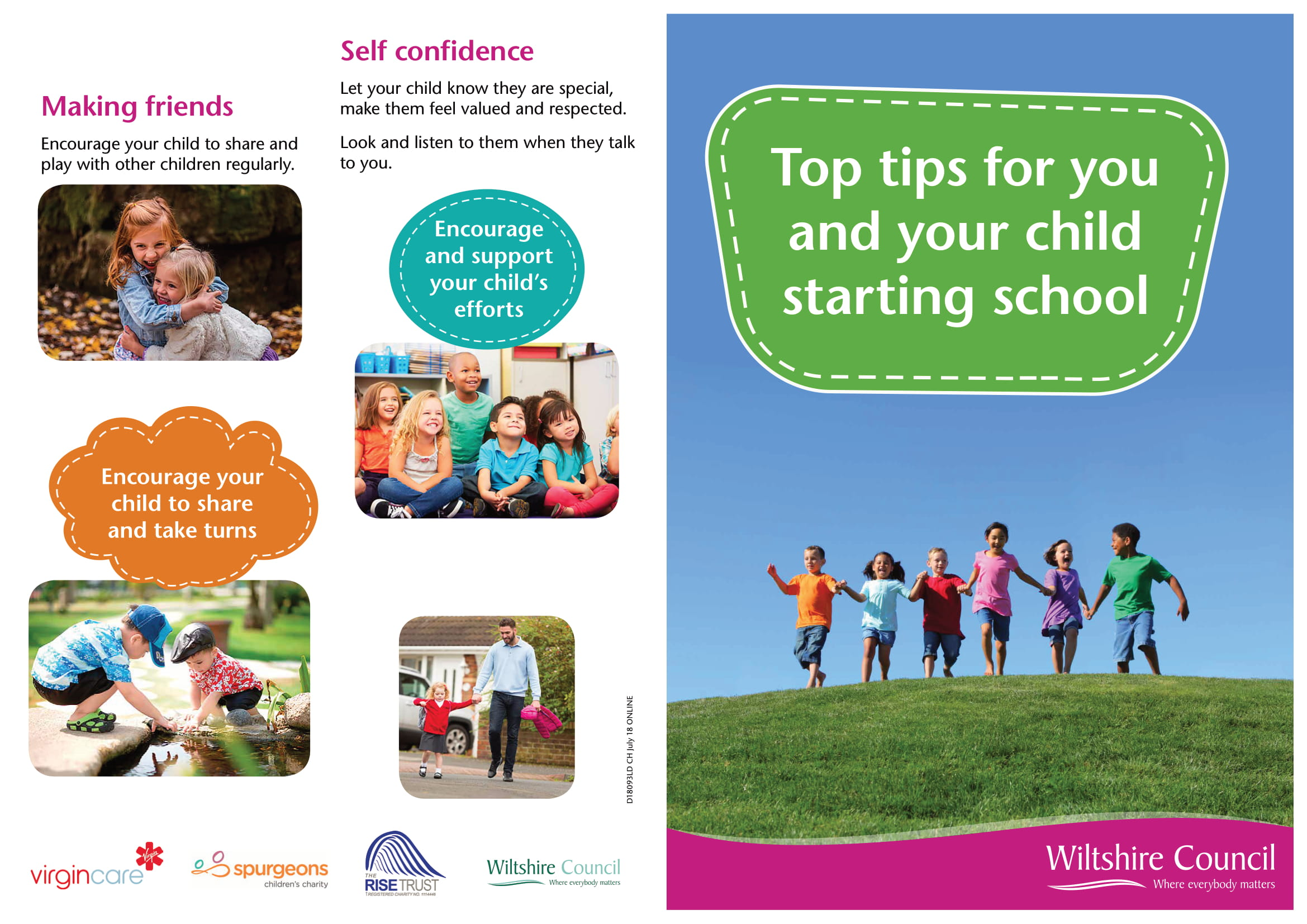 Top Tips For Starting School Leaflet 1